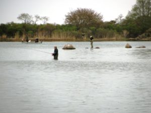 Fly fishing at Ninigret NWR 1 20111